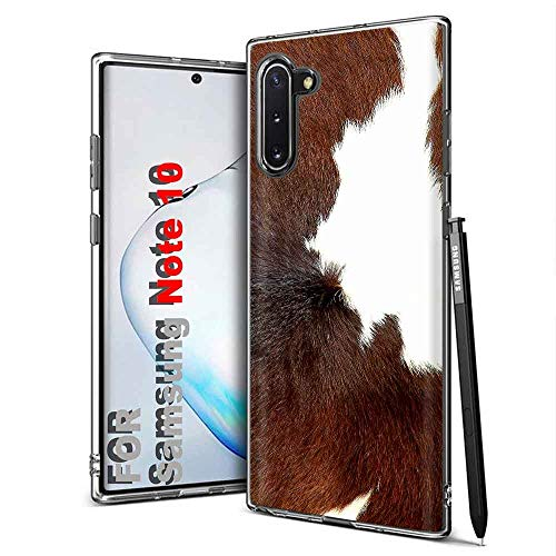 TalkingCase Clear Thin Gel Phone Case for Samsung Galaxy Note 8,Dairy Cow Fur Print,Light Weight,Ultra Flexible,Soft Touch,Anti-Scratch,Designed in USA