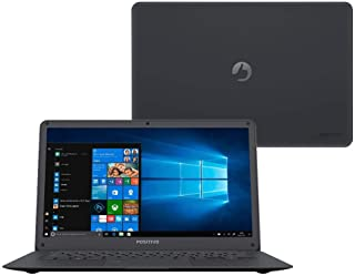"Notebook Positivo Motion Plus Q432A Intel Quad Core Notebook, 4GB RAM, SSD 32GB, tela 14"" LCD, Windows 10, Preto (Deep Dark)"