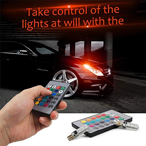 Xingyue Aile binnen- en buitenverlichting T10 12 V 3 W Car LED signaallamp afstandsbediening RGB Auto Interior Dome leeslamp stemming Flash stroboscoop 6SMD