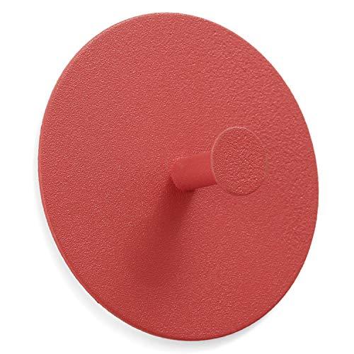 trand Wandhaken Handtuchhaken Schlüsselhaken | selbstklebend ohne Bohren | skandinavisches Design | Bunte Handtuchhalter Garderobenhaken (orange/rot)