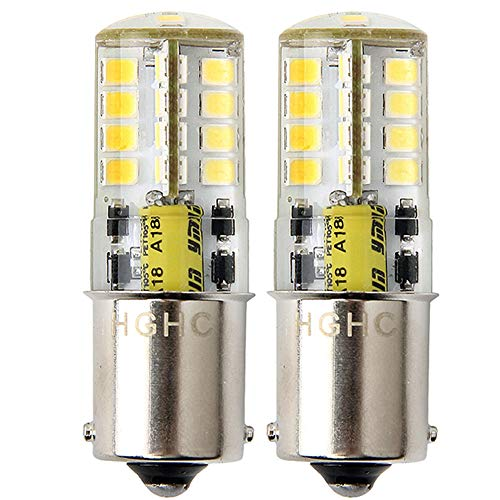 1156 1141 BA15S P21W Bombillas LED, Coche Luz de Marcha Atrás, Luz de Freno, AC/DC 12V 5W 500LM Blanco 6000K (2-Pack)
