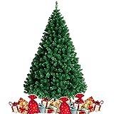 amzdeal Albero di Natale da 180 cm (850 Rami), Base Robusta e Ramo Verde, Albero di Natale Artificiale con Aghi Lunghi per Casa, Negozio, Parco, Festa ECC.