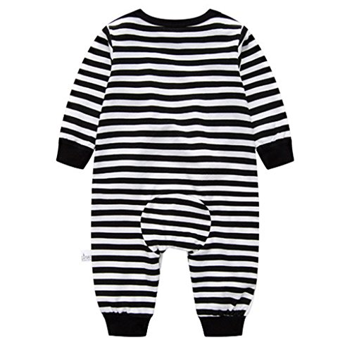 Pyjama Bébé Filles Garçons Combinaisons en Coton Grenouillères Bodys à Manches Longues, 9-12...