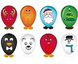 PK KINPARTY Globos de Navidad con pegatinas para decorar - Juguetes de Navidad Calendario de Adviento