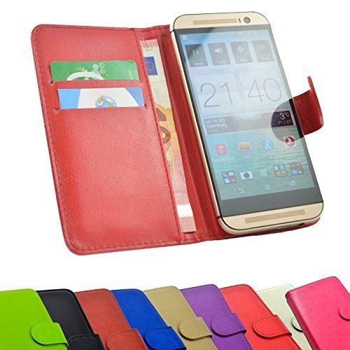 ikracase Handyhülle für Sharp Aquos D10 Aldi Handy Tasche Slide Hülle Cover Smartphone Hülle Schutzhülle in Rot