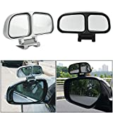 Blind Spot Wide Angle Auxiliary Mirror Car Silver Adjustable Rearview Mirror