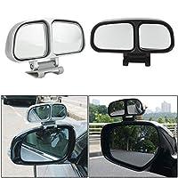 Blind Spot 広角補助ミラー 車 シルバー 調節可能 バックミラー