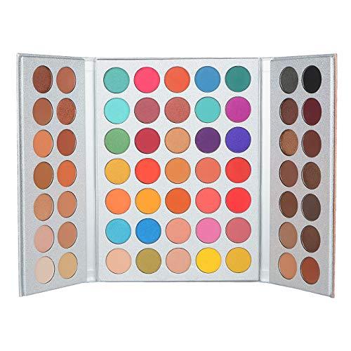 Pannow Paleta de sombra de ojos 63 colores (mate + brillo) Maquillaje...