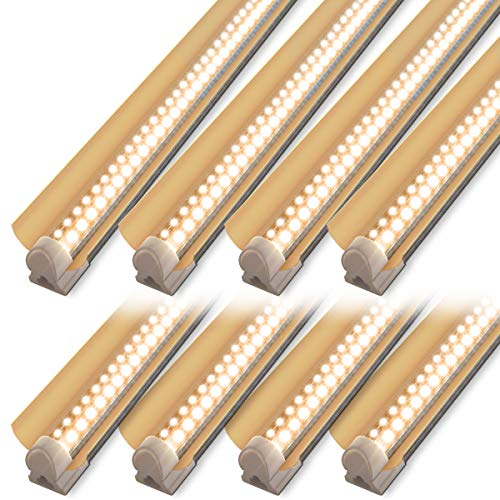 LED Grow Light Strip, 4ft T8 Grow Light Fixture, 336W(8×42W) Full Spectrum Plant Grow Light, High Output Sunlight Replacement with High PAR for Indoor Plant, 8-Pack
