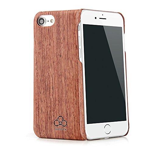 """Cover case in legno """"Arbor"""" per Apple iPhone 7 4,7 pollici in vero legno di jacaranda e kevlar. Custodia di protezione QUADOCTA estremamente stabile e sottile per Apple iPhone7 originale"""