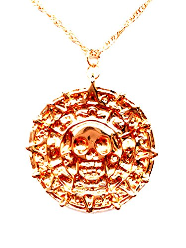 HS86 Fluch der Karibik Halskette Azteken Gold Pirates of The Caribbean Jack Sparrow Elizabeth Swan Kette