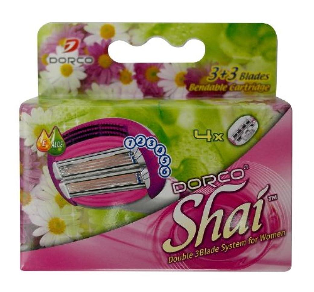ボルト繁栄移行するDORCO ドルコ Shai3+3 女性用替刃式 カミソリ3+3枚刃 替え刃