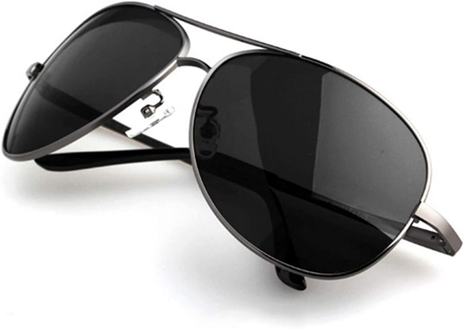 Classic Round Polarized UV400 Predection Sunglasses with Vintage Circle Metal Frame Spring Hinge