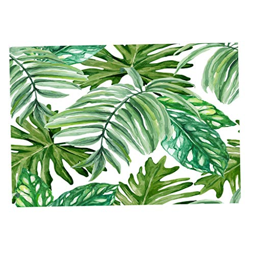 F Fityle Grüne Pflanzen Tischdecke Tischtuch Gartentischdecke für Esszimmer Garten - Rechteck-12