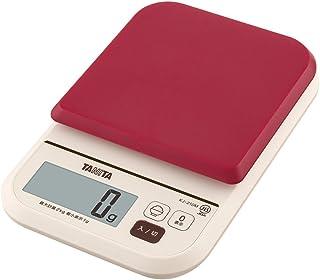タニタ はかり スケール 料理 カロリー 2kg 1g レッド KJ-210M RD ごはんのカロリーがはかれる