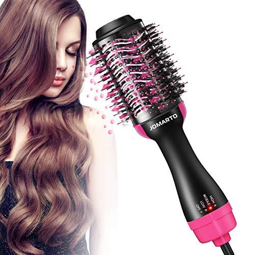 JOMARTO Warmluftbürste Multifunktional Föhnbürste Elektrisch 4 in 1 Haartrockner Rundbürstenföhn One-Step Volumenbürste Hair Dryer für Alle Haartypen