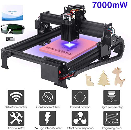 Yofuly 7000mW Laser Engraving Machine Upgrade Version DIY Desktop CNC Engraving...
