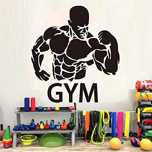 Hetingyue Muscle Gym Muursticker Behang afneembaar Vinyl Wanddecoratie Sport Wand