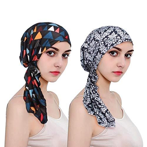 EINSKEY Kopftuch Damen Chemo Kopfbedeckung Turban für Krebs, Chemotherapie, Haarausfall, Schlaf, Muslim