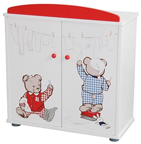 """roba Puppenkleiderschrank Serie """"Teddy College"""", Puppenmöbel zum Verstauen von Puppenkleidung und Puppenzubehör, weiß"""