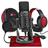 Samson G-Track Pro Professional USB Condenser Microphone w/Audio Interface - Bundled with Samson Headphones and Hardbody Headphone Case Accessory Bundle