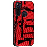 TurtleArmor   Compatible with Motorola Moto G Stylus Case   XT2043   Slim Hybrid Engraved Grooves Hard Shell TPU Dual Layer Case - Guns and Missiles