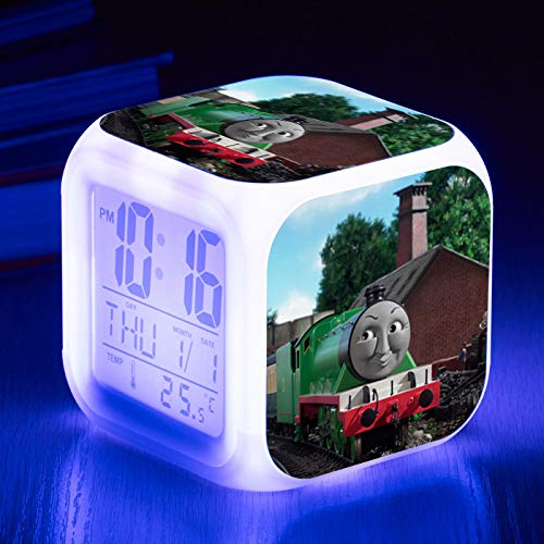 HHIAK666 Thomas Wecker, Farbwechsel 7 Farbe Wecker Quad-Uhr, Led Kreative Geschenk Wecker 8Cm 43