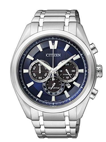 Citizen Herren Chronograph Quarz Uhr mit Titan Armband CA4010-58L
