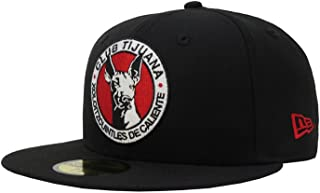 """Black//Red New Era 59Fifty Tijuana Xolos /""""X/"""" Fitted Hat Men/'s Mexico Soccer Cap"""