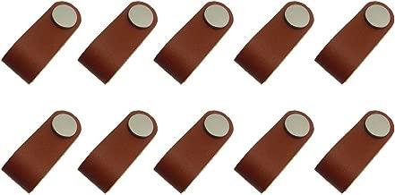Homyl Handmade Leather Valise Poignée Cuir PU Décoration pour Tiroir Placard - 10x
