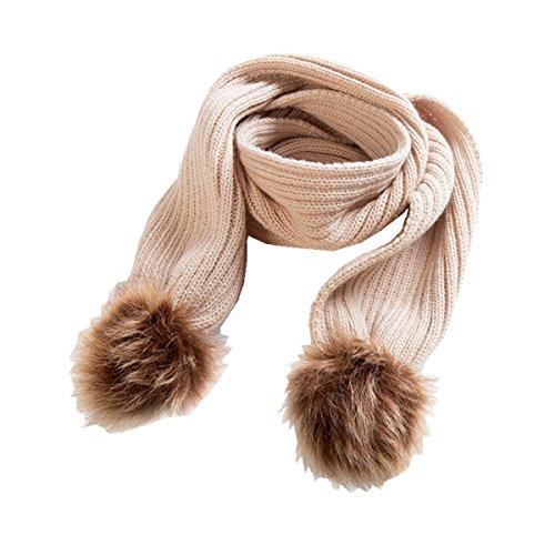 puseky baby peuter baby pom ballen breien warme muts ski hoed en sjaal 2 stks/set