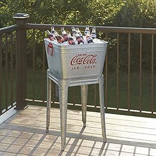 42 Quart Galvanized Coca-Cola Wash Tub Cooler with Stand