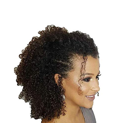 Easyouth Clip Hair Extensions 16' 100g 7Pcs Per Package Natural Black Clip in Afro Hair Clip Hair Extensions Human Hair