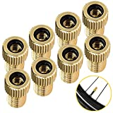 Zapdaz Brass Presta Valve Adaptor[8 Pcs]- Convert Presta to Schrader Adapter for Bike Bicycle,Standard Tire Inflate Air Pump Accessories,FR/UK to US Converter,Compressor Attachment MTB Cycling Tools