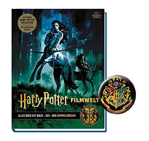 Panini Verlag Harry Potter Filmwelt: Alles über die Wald-, See- und Himmelwesen (1.Band) + 1 Harry Potter Button