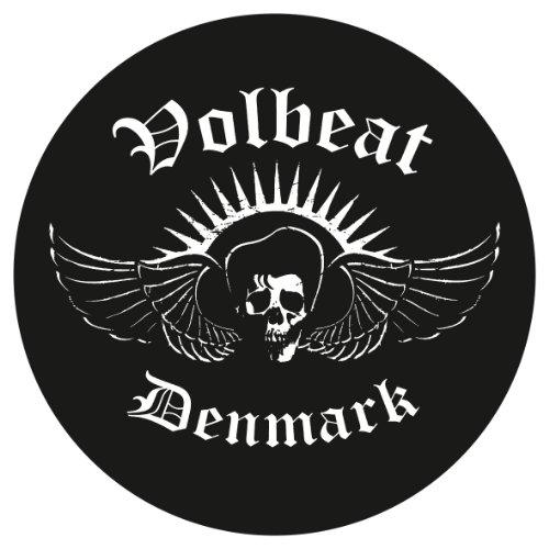 VOLBEAT DENMARK Autoaufkleber Sticker Aufkleber rund wasserfest anthrazit schwarz