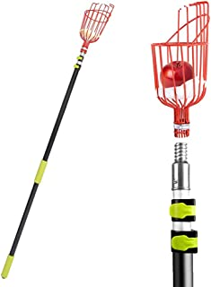 Ohuhu Fruit Picker Tool, 13-Foot Fruit Picker with Light-Weight Aluminum Telescoping Pole, Fruit Picking Equipment for Getting Fruits