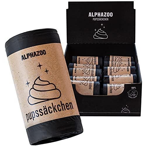 alphazoo Pupssäckchen Hundekotbeutel biologisch abbaubar 600 St. kompostierbare Kotbeutel für Hunde   auslaufsichere und flüssigkeitsbeständige Hundetüten