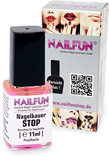 Nagelkauer STOP - 11ml Speziallack für Nagelbeißer in der Glas Pinselflasche - bitterer Nagellack gegen Nägel kauen und Daumenlutschen