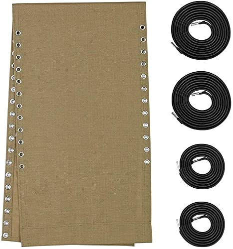 Gravity Chair Replacement Fabric with Bungee Cord Kit, Repair Cloth with Lace for Anti-Gravity Lounge, Mesh Part for Patio Sling Folding Recliner Couch Outdoor Pool Lawn (Beige)