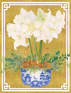 Unique Christmas Cards Happy Holiday Cards, Boxed Christmas Cards, Amaryllis Flower 16 Holiday Greeting Cards -Inside: with All Best Wishes for a Healthy, Happy and Peaceful New Year