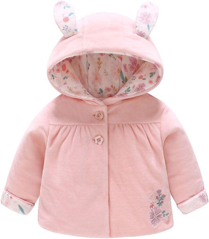 Baby Girls Infant Cartoon Rabbit Outwear Winter Miami Mall Jacket Warm Sale SALE% OFF Ear