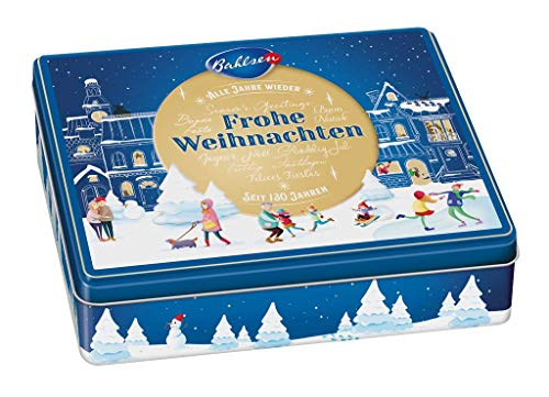 Bahlsen Weihnachtsdose – neues Motiv für 2019 – erlesene Gebäckmischung, 1er Pack (1 x 300 g)