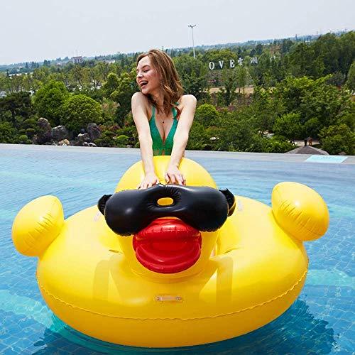 Swim Party Toys Schlauchboot Sonnenbrillen Rhabarber Ente Installieren Schwimmende Reihe Großen Erwachsenen Aufblasbare Schwimmring Driften Couch Umweltschutz Gutmütige Pvc-Material Aufgeblasenes Maß