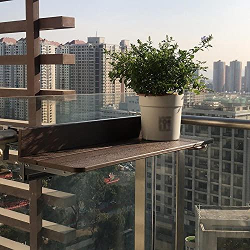 TENGKUNLUN Tavolo D'attaccatura della Ringhiera, Alluminio Tavolo Pieghevole Regolabile Altezza Balcone Appeso Tavolo per Il Tempo Libero All'aperto per Uso Domestico per Uso