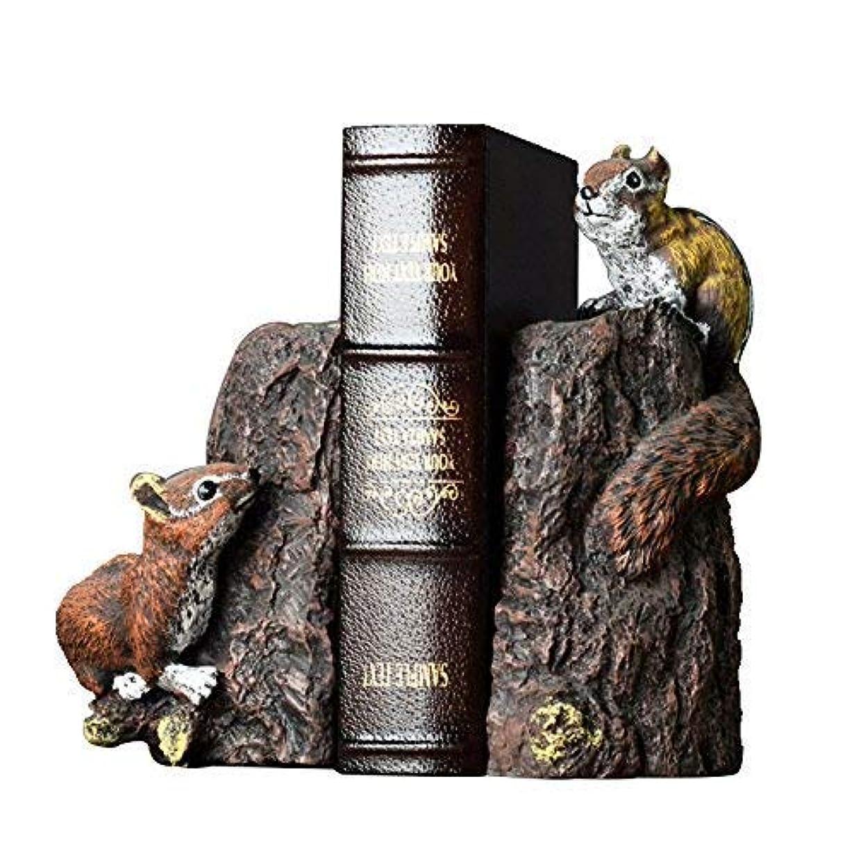 つぶす埋め込む創始者ZGQA-GQA アメリカンホームスタディクラフトデコレーションからかわいい動物のブックエンドオフィス装飾本棚本棚装飾ブックリスのブックエンド