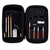 BOOSTEADY Universal Handgun Cleaning kit .22.357/.38/9mm.45 Caliber Pistol Cleaning Kit Brush Jag with Flexible Coated Cable and Empty Bottle in Zippered Case