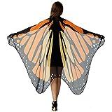 HITOP Women Halloween Party Butterfly Wings Shawl for GirlsAdult Festival Costume Wear Dress Up Cape