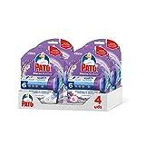 PATO Discos Activos WC Lavanda, Limpia Y Desinfecta, Packs de 4 Unidades, 1 Aplicador + 1 Recambio