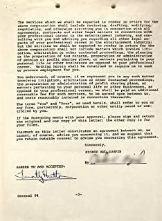 Timothy Hutton Autograph - 2 Page Contract - Signed in Ballpoint By Hutton - Dated 1979 - Very Rare - Films: Ordinary People/Taps - Collectible